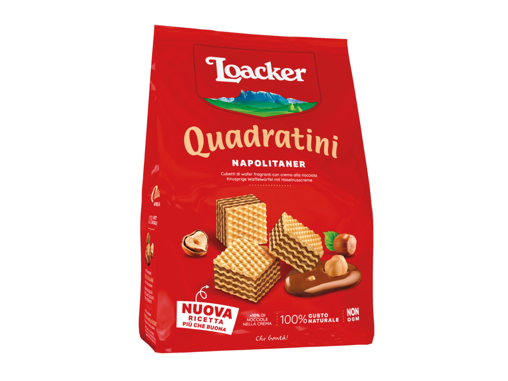 Wafer Quadratini Napolitaner – with Italian hazelnuts