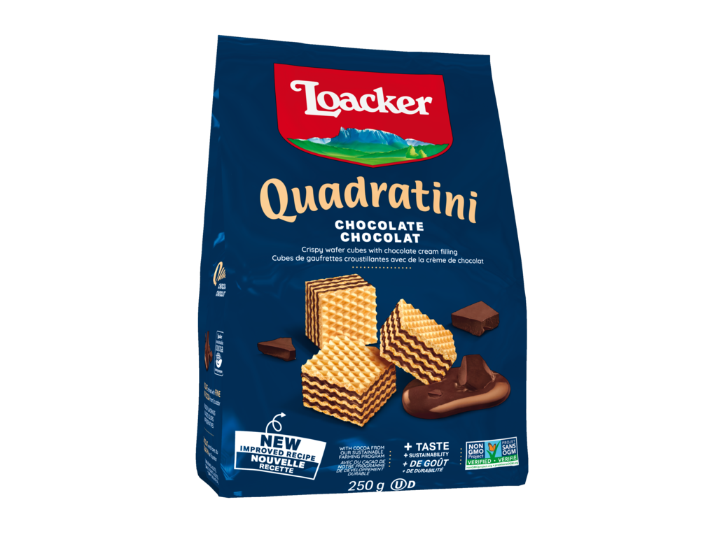 Wafer Quadratini Chocolate – with Chocolate and Cocoa