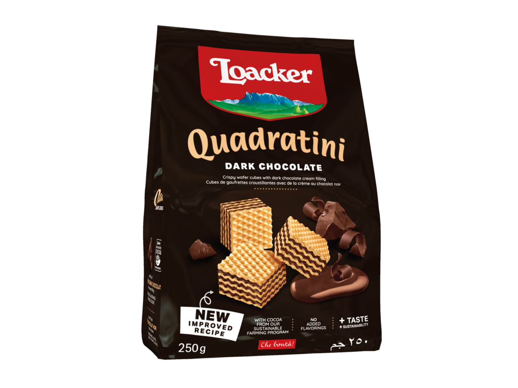 Wafer Quadratini Dark Chocolate – con Cioccolato Fondente
