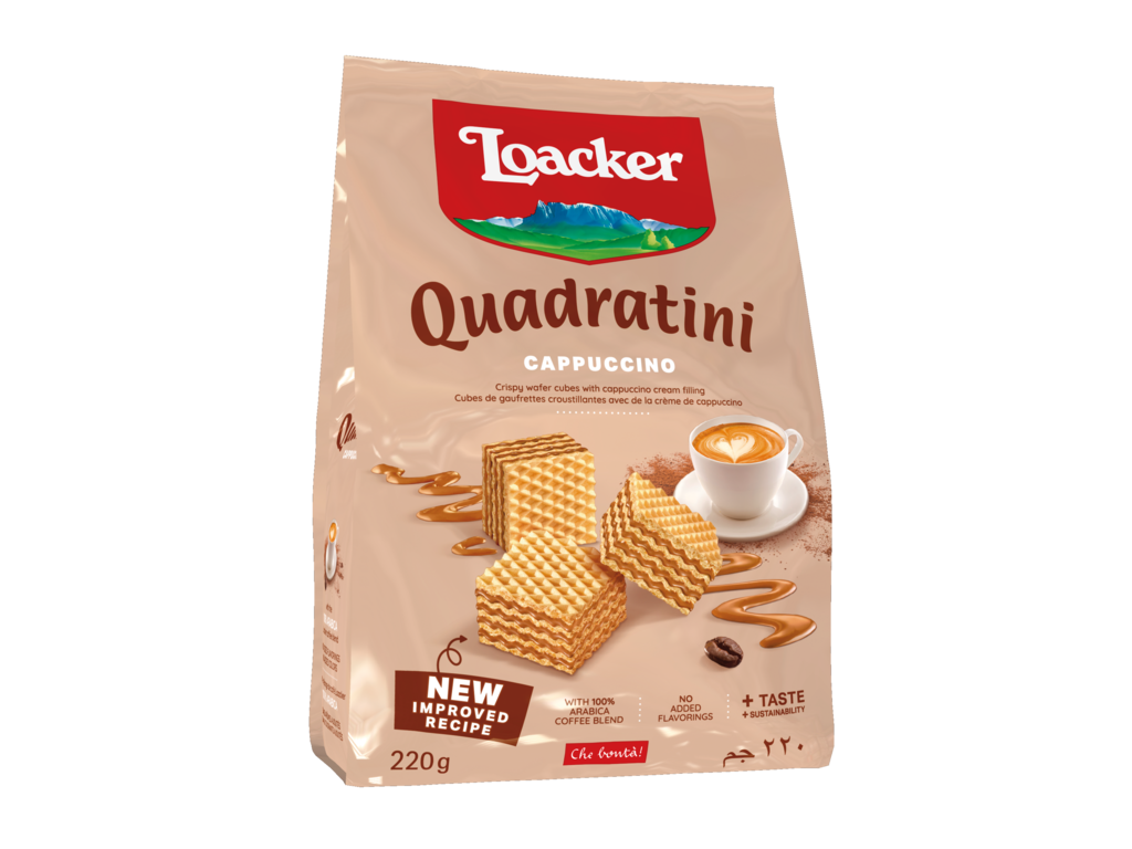 Wafer Quadratini Cappuccino – with Coffee and Milk