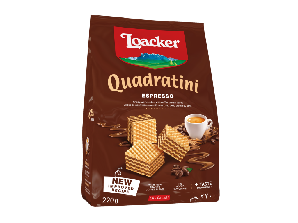 Wafer Quadratini Espresso – with Espresso coffee