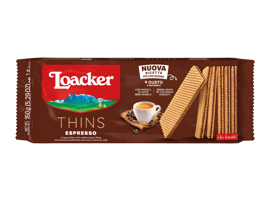 Wafer Thins Espresso – with strong Coffee