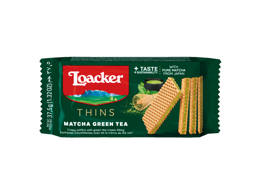 Wafer Thins Matcha – with precious Green Tea
